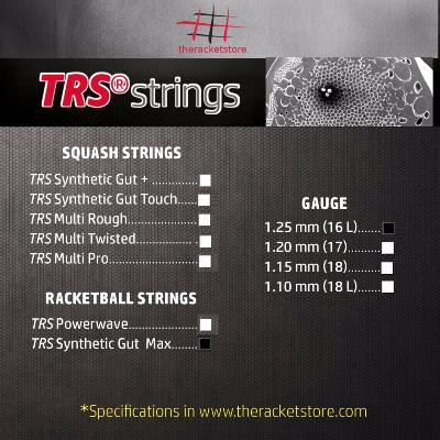 Set cordaje TRS SYNTHETIC GUT MAX 1.25